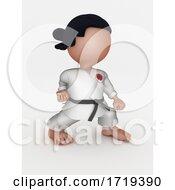 Karate Martial Arts Cartoon Character