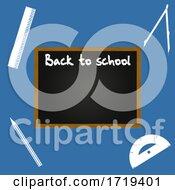 Back To School Blackboard On Blue Background