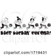 Black And White Kids Kickin Corona Virus