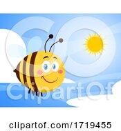 Poster, Art Print Of Happy Bee In The Sky