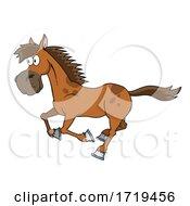 Cartoon Running Horse