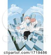 Doctor Superhero Flying Comic Book Super Hero