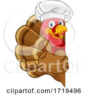 Poster, Art Print Of Turkey Chef Thanksgiving Or Christmas Cartoon
