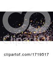 08/12/2020 - 3d Cloud Of Black And Orange Glowing Orange Spheres Dispersing In Space