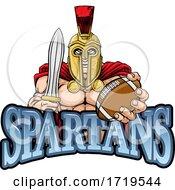 Poster, Art Print Of Spartan Trojan American Football Sports Mascot