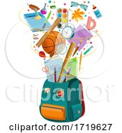 School Backpack And Supplies