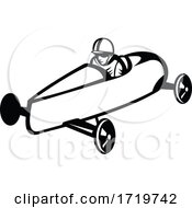 Soap Box Derby Or Soapbox Car Racer Racing Side Retro Black And White
