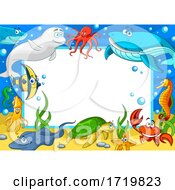 Certificate Border With Sea Creatures