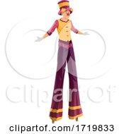 Poster, Art Print Of Clown Walking On Stilts