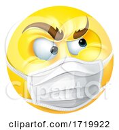 Poster, Art Print Of Angry Emoticon Emoji Ppe Medical Mask Face Icon