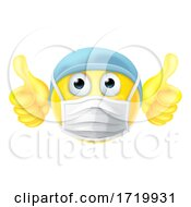 Poster, Art Print Of Mask Emoticon Emoji Thumbs Up Ppe Doctor Nurse