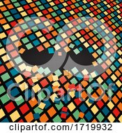 Abstract Falling Tiles Background