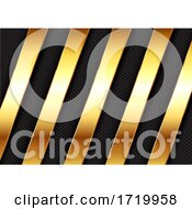 Abstract Background With Gold Metallic Bars Design