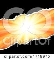 Torn Paper Design On Starburst Background