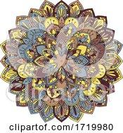 Colourful Mandala Design 1208 by KJ Pargeter