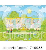 Poster, Art Print Of Boy Playing In A Yard