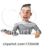3d Breton Man, on a White Background by Julos #COLLC1720438-0108