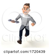 3d Breton Man, on a White Background by Julos #COLLC1720439-0108