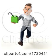 3d Breton Man, on a White Background by Julos #COLLC1720441-0108