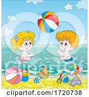 08/20/2020 - Children Playing On A Beach