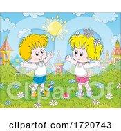 Children Exercising In A Park