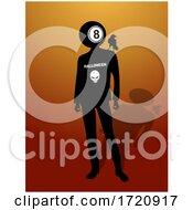 Halloween Lotto Bingo Man Silhouette