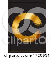 Abstract Background With Gold Foil Design