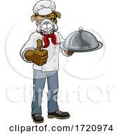 Poster, Art Print Of Bulldog Chef Mascot Cartoon