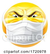 Angry Emoticon Emoji PPE Medical Mask Face Icon