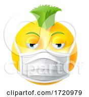 Poster, Art Print Of Punk Emoticon Emoji Ppe Medical Mask Face Icon