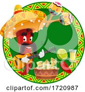 Poster, Art Print Of Red Pepper Mascot Mexican Design