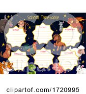 Poster, Art Print Of Chinese Zodiac School Time Table