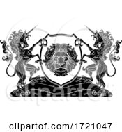 Crest Unicorns Horse Coat Of Arms Lion Family Seal