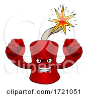 Firecracker Dynamite Cartoon Firework Mascot by AtStockIllustration