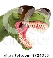 Cool Dinosaur Wearing Shades Sunglasses