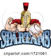 Spartan Trojan Baseball Sports Mascot