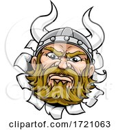 Viking Warrior Barbarian Mascot Cartoon Face