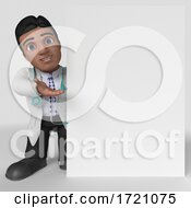 3D Render Of Doctor Character On A Shaded Background