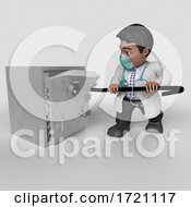 Poster, Art Print Of 3d Render Of Doctor Character On A Shaded Background