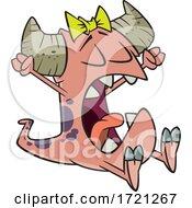 Cartoon Monster Waking Up