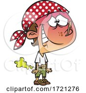 Cartoon Farting Pirate
