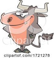 Cartoon Stubborn Bull