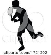 Tennis Silhouette Sport Player Man