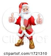 Santa Claus Thumbs Up Christmas Cartoon Character