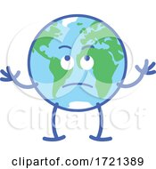 Poster, Art Print Of Earth Character Rolling Its Eyes