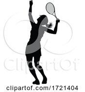 Tennis Silhouette Sport Player Woman
