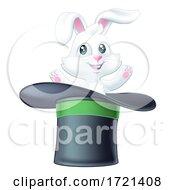 Poster, Art Print Of Magic Trick Magician Top Hat Rabbit Illustration
