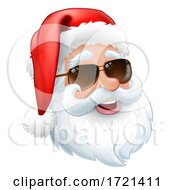 Cool Santa In Sunglasses Shades Christmas Cartoon