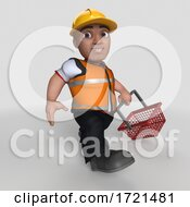 3D Builder Character On A Shaded Background