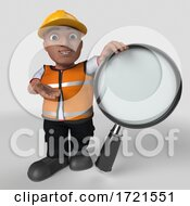 3D Builder Character On A Shaded Background by KJ Pargeter